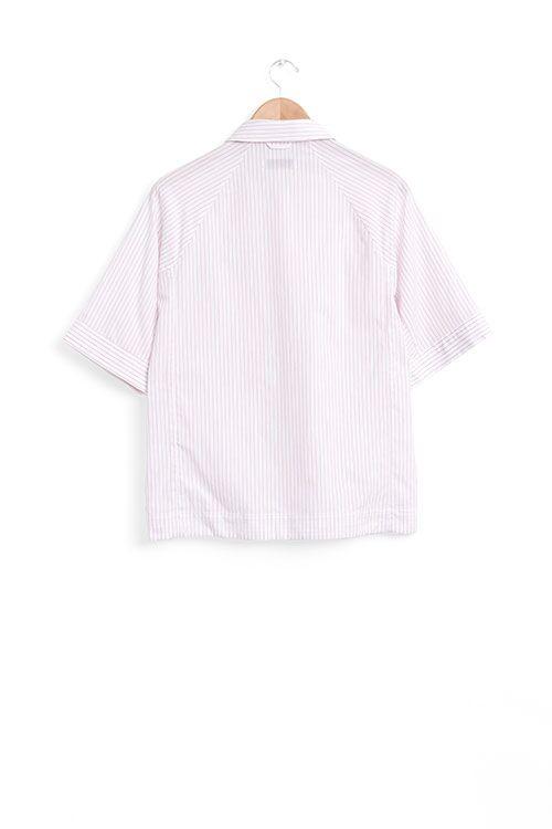 The Sleep Shirt Raglan Pyjama Top in Red and White Stripe