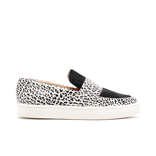 Loeffler Randall - Irini Buffalo Print Leather Slip-on Sneaker