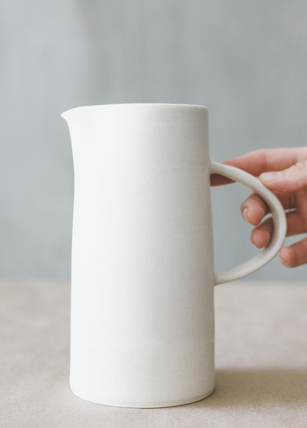 Notary Ceramics - Summer Pitcher in White