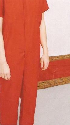 Caron Callahan Crawford Jumpsuit in Crimson Twill