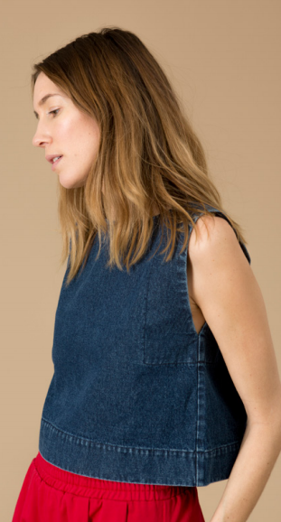 Ilana Kohn Kate Crop in Denim