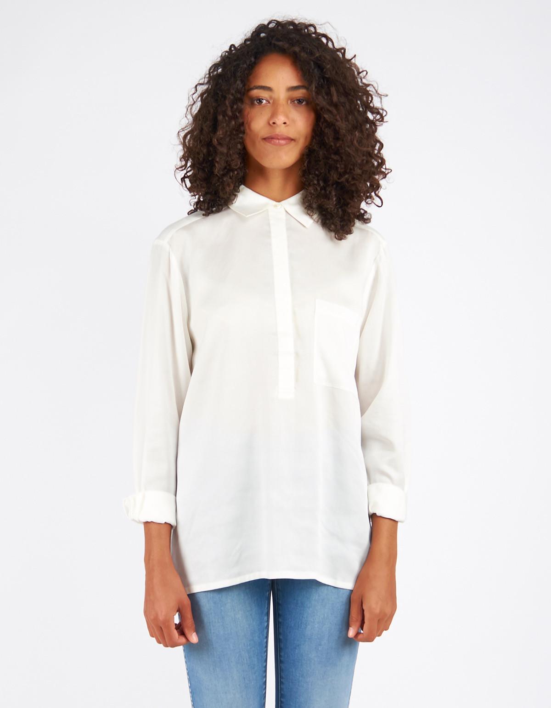 filippa k tencel pull on blouse off white from still life garmentory. Black Bedroom Furniture Sets. Home Design Ideas