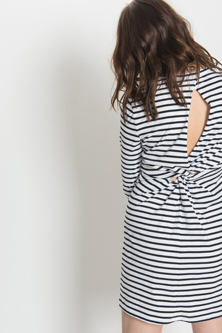 A.L.C. - Fay Dress in Black Stripe