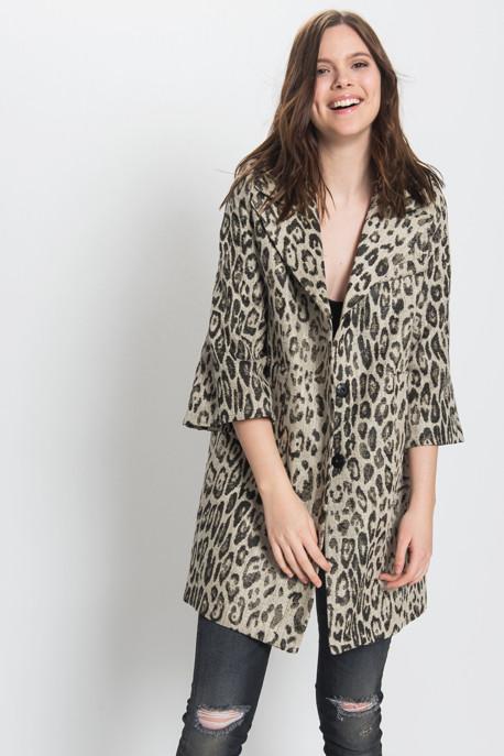 Smythe Les Vestes - Leopard Mini Opera Coat
