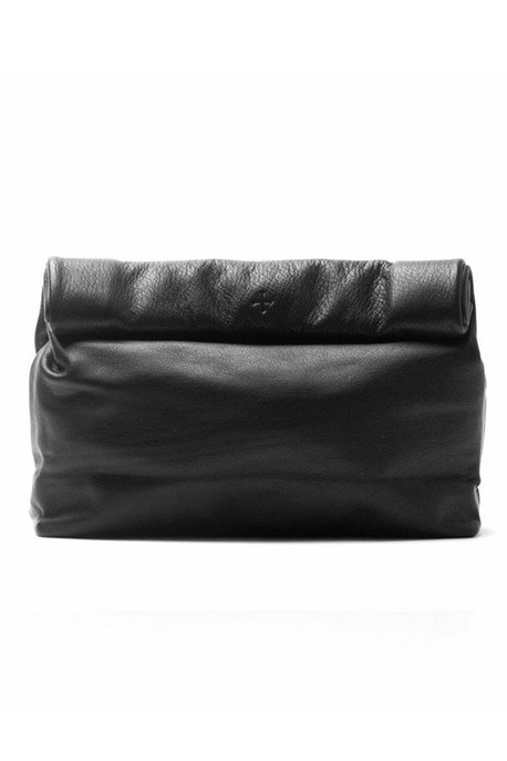 Marie Turnor - The Lunch Clutch in Black Pebble