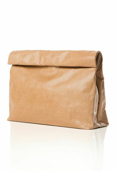 Marie Turnor - The Lunch clutch in Tan