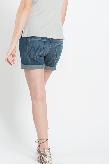 "Mother Denim - ""The Dropout"" Cuffed Jean Shorts"