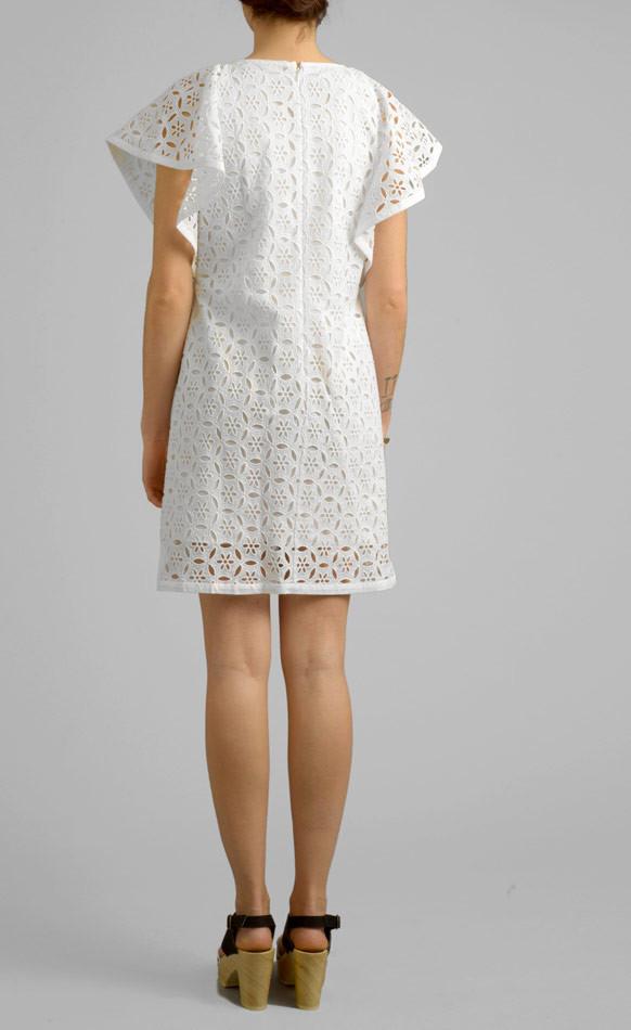 WHIT - CRANE DRESS IN WHITE