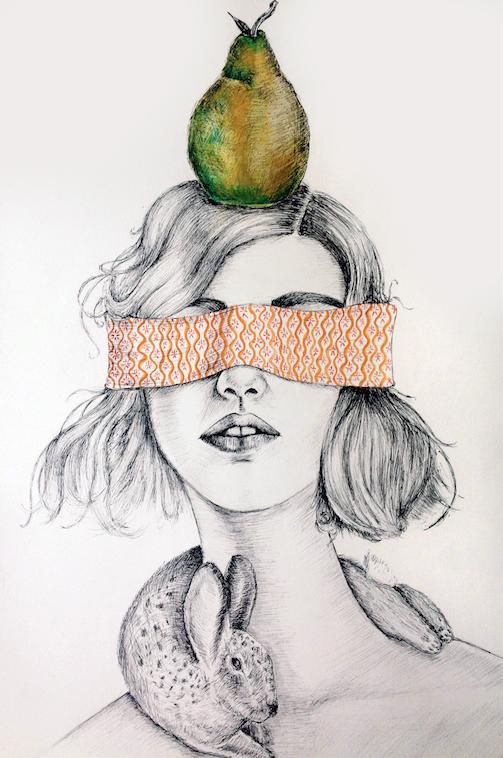 Becca Fuhrman Pear & Hare Print
