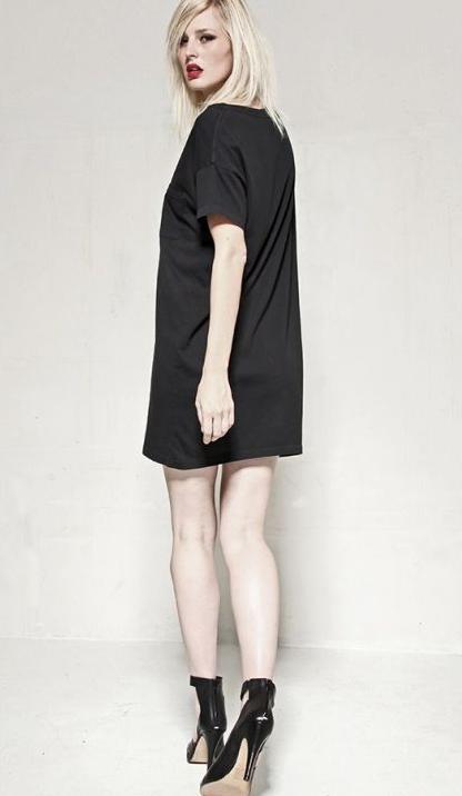 Skargorn #60 Tee Dress, Black Wash