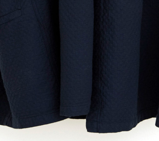 Atelier Delphine Antwerp Coat, Ocean, Bubble Textured Cotton