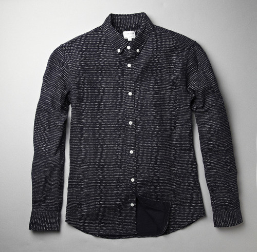CORRIDOR NAVY DOT BUTTON DOWN