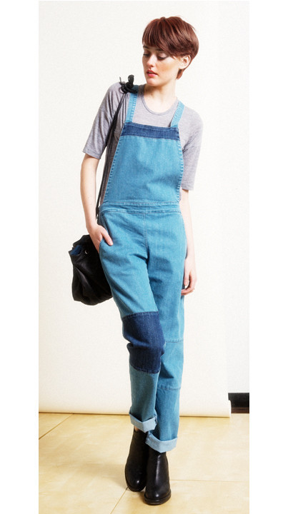 LOUP - PATCHWORK OVERALLS - DENIM
