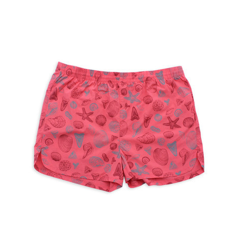 M. CARTER CO. Shells Swim Trunks Shells/Salmon