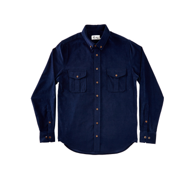 MR NICE - CAMPFIRE CORD OVERSHIRT - NAVY