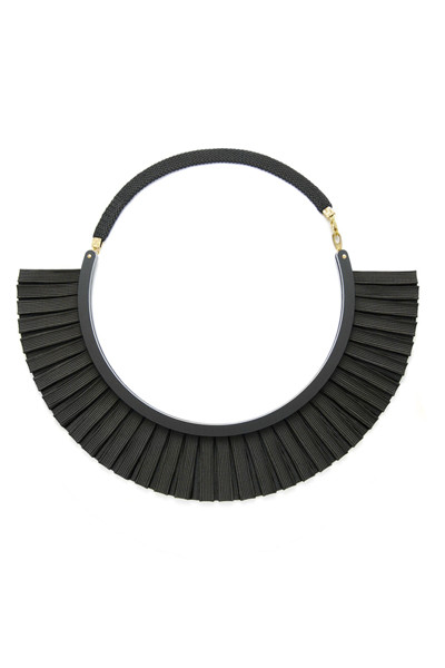 Bat is Black Ribbon Necklace (Black)