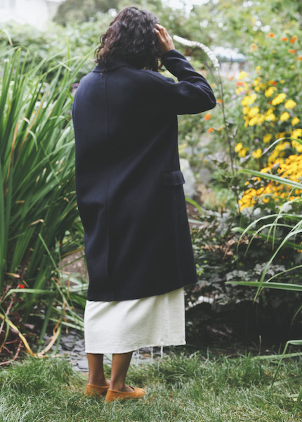 Achro - Handmade Long Coat in Navy