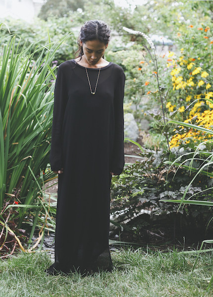 Lacausa - Long Sleeve Dress in Tar
