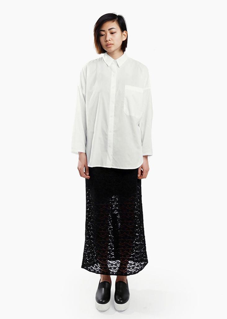 toit volant midi lace pencil skirt from new classics