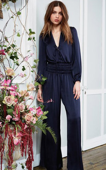 Love Shack Fancy Gigi Jumpsuit - Midnight