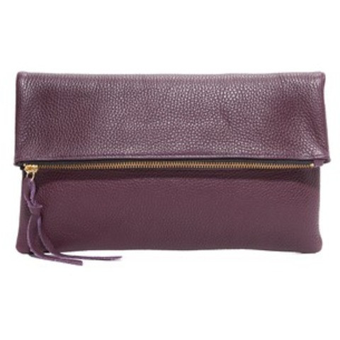 OLIVEVE anastasia in plum pebbled cow leather