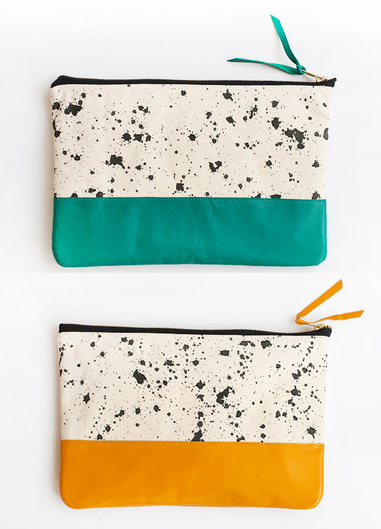 Anna Joyce - Splatter Clutch (Teal or Yellow)