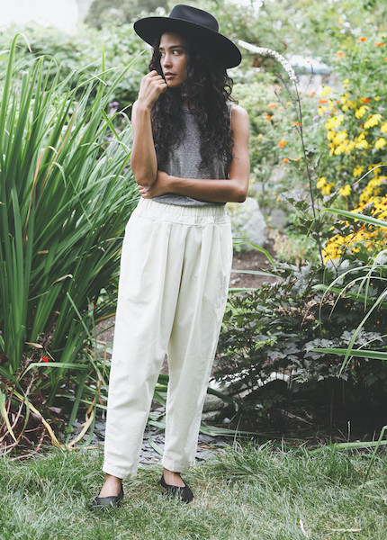 Black Crane - Carpenter Pant in Cream