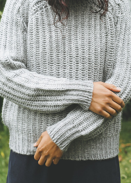 Objects Without Meaning - Rib Sweater in Grey