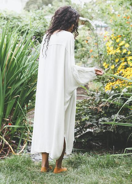 Black Crane - Dome Dress in Cream