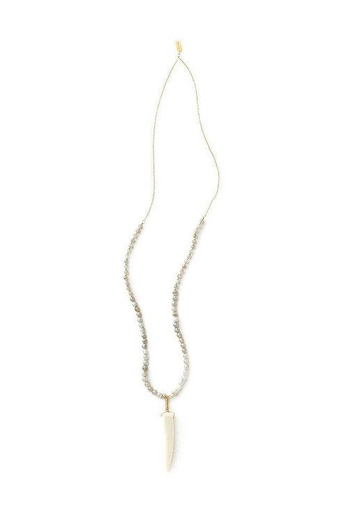 Tess+Tricia abradorite Mix Antler Tip Necklace