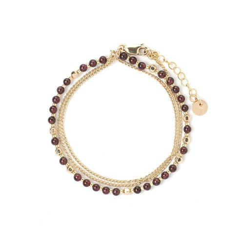 Tess+Tricia Garnet + Gold Base Layering Piece