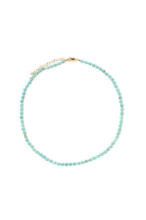 Tess+Tricia Turquoise Simple Choker