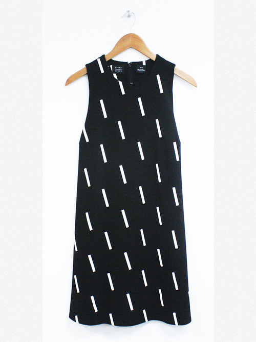 Press Line Fit Printed Dress