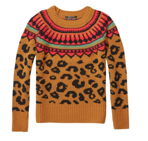 Maison Scotch Chunky Leopard Sweater