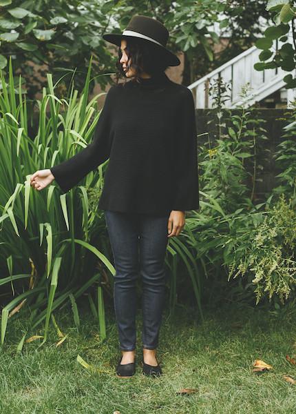 Line Knitwear - Aubrey in Caviar