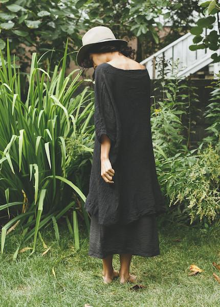 Uzi -  Box Dress in Black
