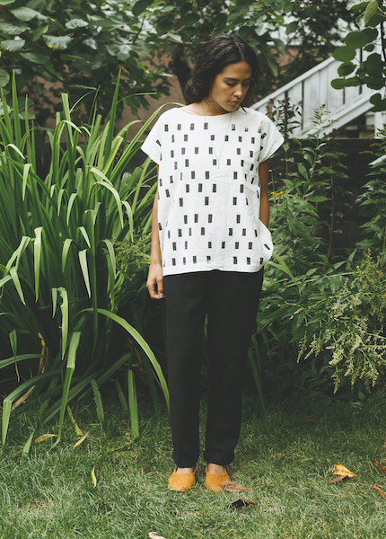 Uzi - Tunic in Cream Disko