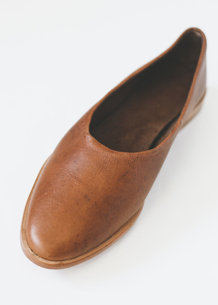 Osborn Clarity Flats in Greyci Brown Leather