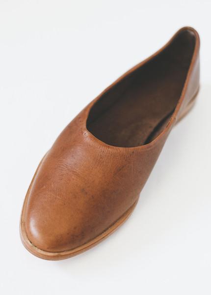 Osborn Clarity Flats in Greyci Brown Leather