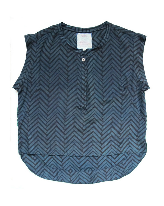 Seek - Kerry Top in Atlantic Ocean print
