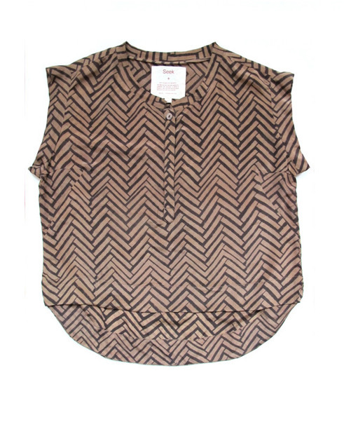 Seek - Kerry Top in Golden Coffee print