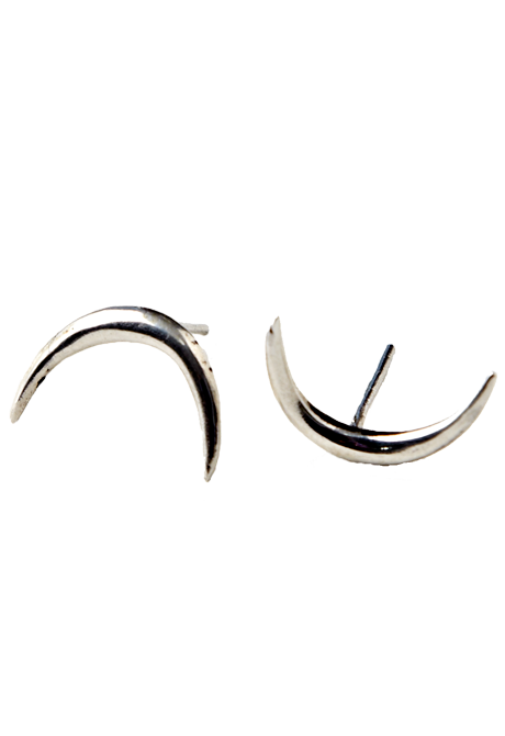 Echoes of Culture - Crescent Studs Silver