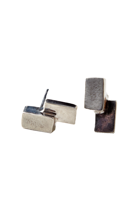 The Things We Keep - Tate Studs Silver