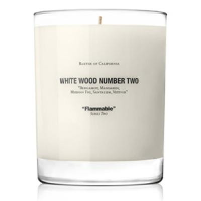 BAXTER OF CALIFORNIA - WHITE WOOD NUMBER TWO Candle