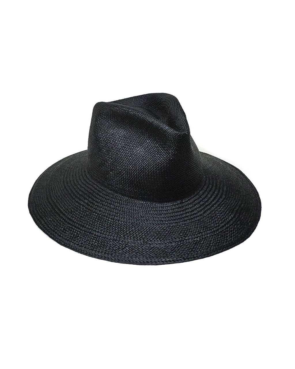 Clyde Panama Pinch Hat In Black Straw From Saint Cloud