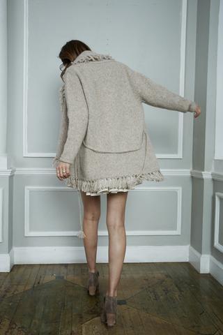 Tassel Shawl Sweater