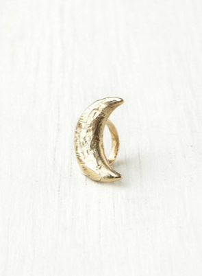 Species By The Thousands Crescent Moon Ring