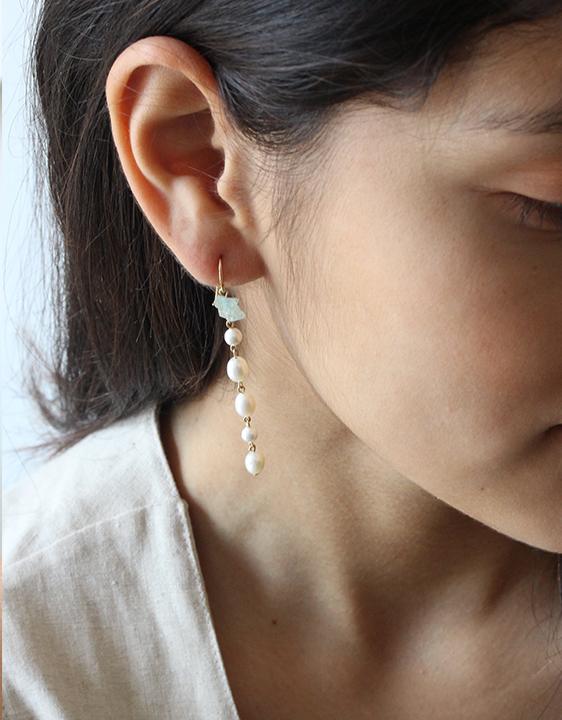 Giant Lion Pearl Drop Earring