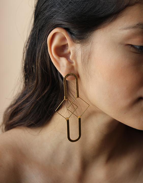 Alynne Lavigne Squared Earrings