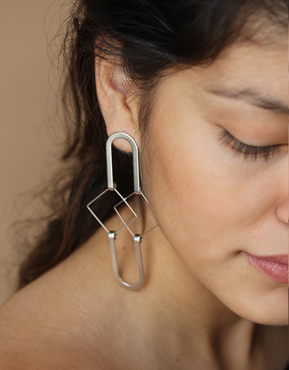 Alynne Lavigne Squared Earrings - Silver